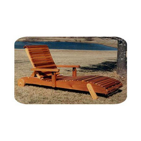 Woodworking Project Paper Plan to Build Chaise Lounge Chair