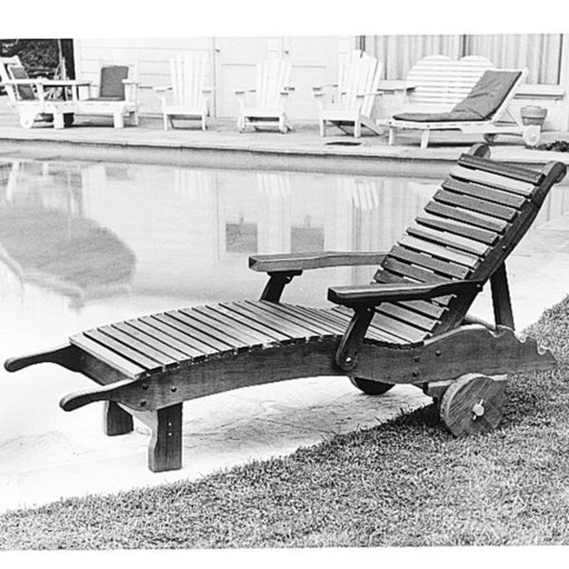 View a Larger Image of Woodworking Project Paper Plan to Build Chaise Lounge, Plan No. 81