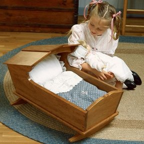 Woodworking Project Paper Plan to Build Cherry Doll's Cradle
