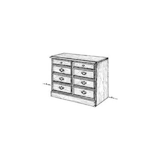 View a Larger Image of Woodworking Project Paper Plan to Build Chest of Drawers 30