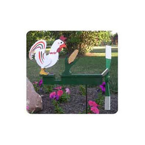 Woodworking Project Paper Plan to Build Chicken Pecking Corn Whirligig