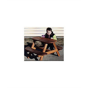 Woodworking Project Paper Plan to Build Child's Picnic Table