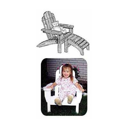View a Larger Image of Woodworking Project Paper Plan to Build Child's Adirondack Chair with Footrest