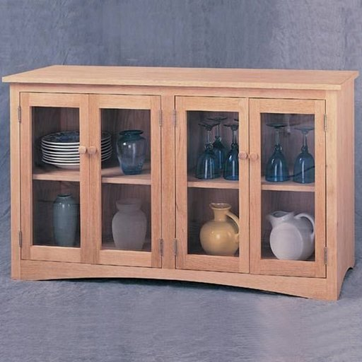View a Larger Image of Woodworking Project Paper Plan to Build China Sideboard, Plan No. 927