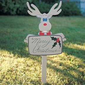 Woodworking Project Paper Plan to Build Christmas Reindeer, Plan No. 828