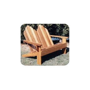 Woodworking Project Paper Plan to Build Classic Adirondack Loveseat