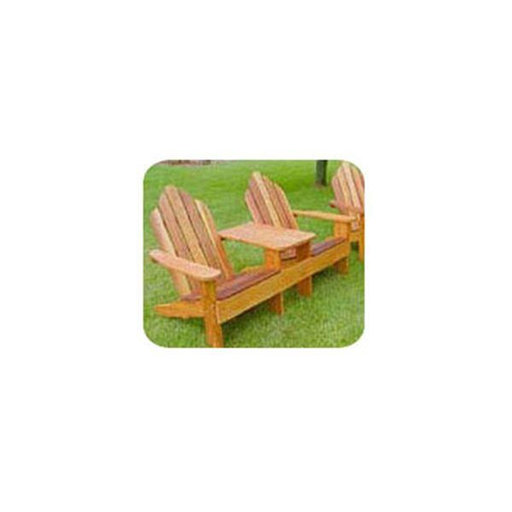 View a Larger Image of Woodworking Project Paper Plan to Build Classic Adirondack Tete-a-Tete