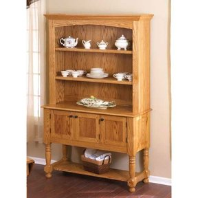 Woodworking Project Paper Plan to Build Classic Country Oak Hutch