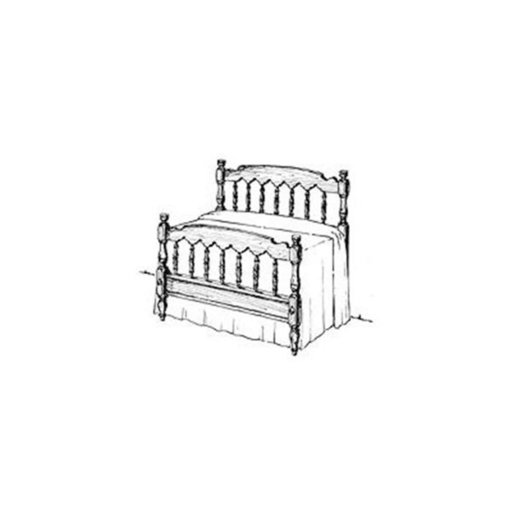 View a Larger Image of Woodworking Project Paper Plan to Build Colonial Bed
