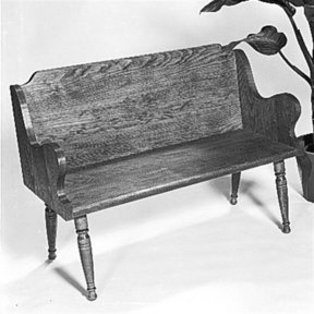 Woodworking Project Paper Plan to Build Colonial Bench, Plan No. 302