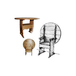 Woodworking Project Paper Plan to Build Colonial Chair / Table