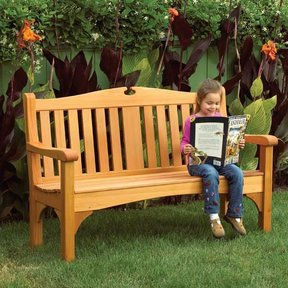 Woodworking Project Paper Plan to Build Comfy Classic Garden Bench