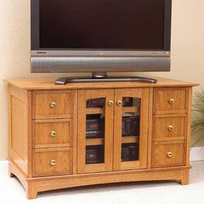 Woodworking Project Paper Plan to Build Compact Entertainment Center