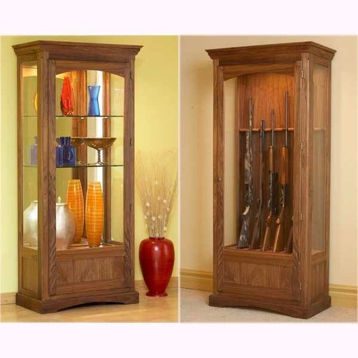 View a Larger Image of Woodworking Project Paper Plan to Build Convertible Display and Gun Cabinet