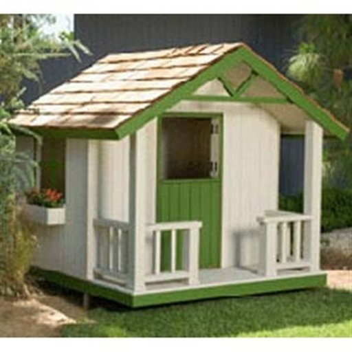 View a Larger Image of Woodworking Project Paper Plan to Build Cottage Playhouse Plan