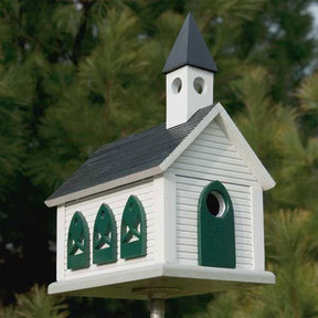 Woodworking Project Paper Plan to Build Country Church Birdhouse
