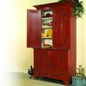 Woodworking Project Paper Plan to Build Country Classic Stepback Cupboard