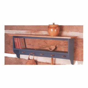 Woodworking Project Paper Plan to Build Country Collection Wall Shelf