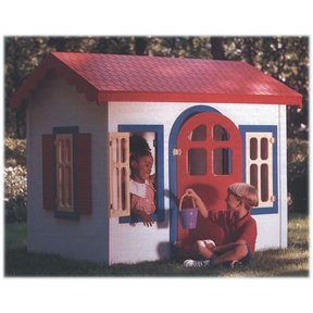 Woodworking Project Paper Plan to Build Country Cottage Playhouse