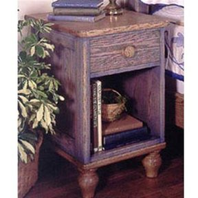 Woodworking Project Paper Plan to Build Country-Fresh Nightstand