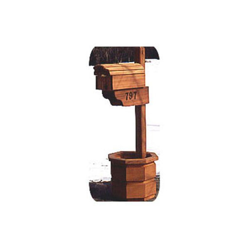 View a Larger Image of Woodworking Project Paper Plan to Build Country Mailbox with Planter
