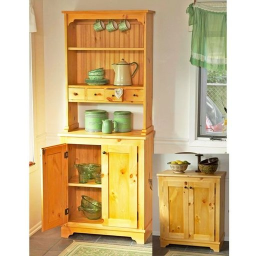 View a Larger Image of Woodworking Project Paper Plan to Build Country Pine Cabinet