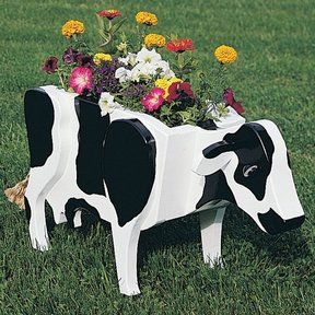 Woodworking Project Paper Plan to Build Cow Planter, Plan No. 825