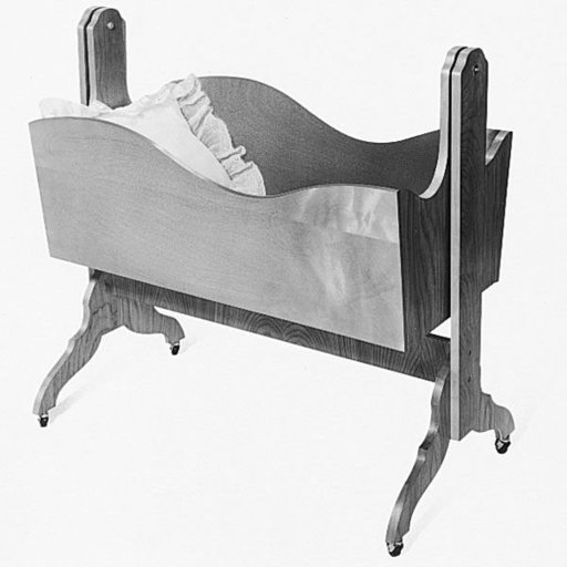 View a Larger Image of Woodworking Project Paper Plan to Build Cradle