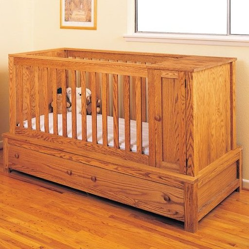 View a Larger Image of Woodworking Project Paper Plan to Build Crib and Bed