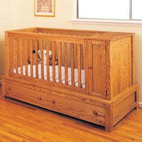 Woodworking Project Paper Plan to Build Crib and Bed