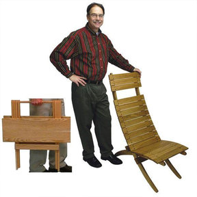Woodworking Project Paper Plan to Build Cross-Brace Chair and Folding Table