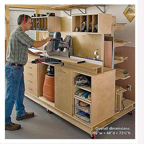 Woodworking Project Paper Plan to Build Crosscut Station and Lumber Rack