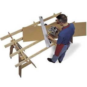 Woodworking Project Paper Plan to Build Cutting Platform and Sheet Goods Mover