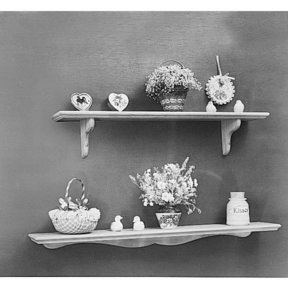 Woodworking Project Paper Plan to Build Decorator Shelves, Plan No. 785