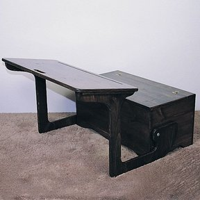 Woodworking Project Paper Plan to Build Desk & Storage, Plan No. 763