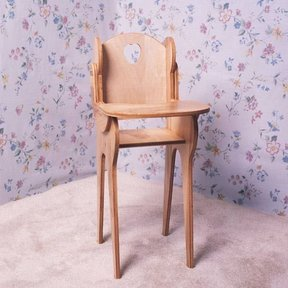 Woodworking Project Paper Plan to Build Doll High Chair, Plan No. 770