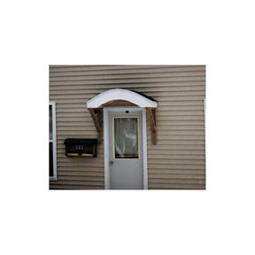 Woodworking Project Paper Plan to Build Doorway Shelter, Arched Top