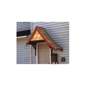 Woodworking Project Paper Plan to Build Doorway Shelter, Sloped Top