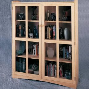Woodworking Project Paper Plan to Build Double Craftsman Bookcase