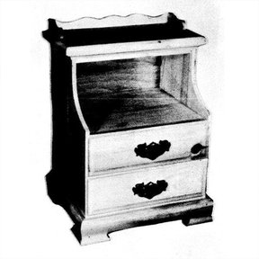 Woodworking Project Paper Plan to Build Double Drawer Night Stand