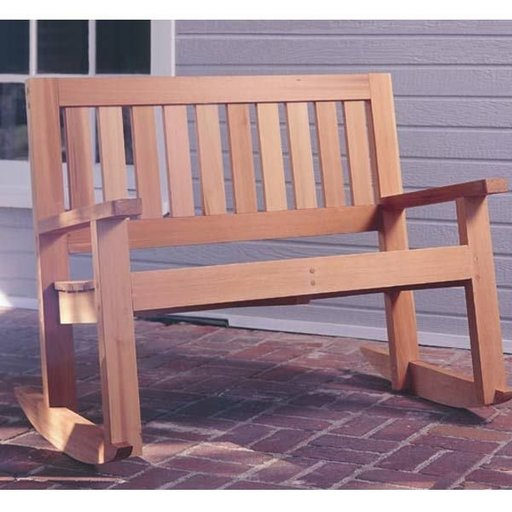View a Larger Image of Woodworking Project Paper Plan to Build Double Porch Rocker, Plan No. 929