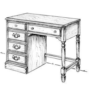 Woodworking Project Paper Plan to Build Dresser Desk