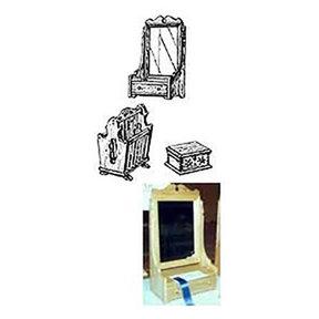 Woodworking Project Paper Plan to Build Dresser Mirror, Jewelry Box, Magazine Rack
