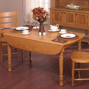 Woodworking Project Paper Plan to Build Drop-Leaf Table