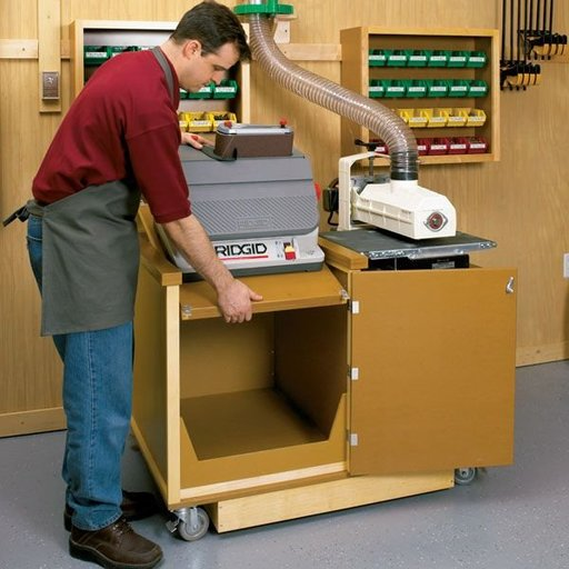 View a Larger Image of Woodworking Project Paper Plan to Build Dual-Purpose Sanding Center