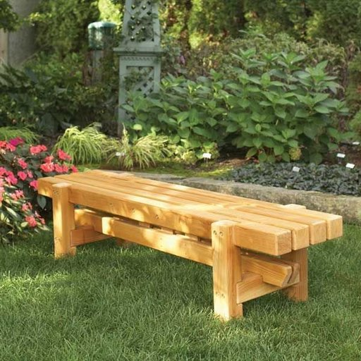 View a Larger Image of Woodworking Project Paper Plan to Build Durable, Doable Outdoor Bench
