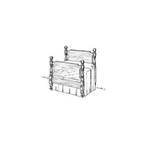 View a Larger Image of Woodworking Project Paper Plan to Build Early American Bed