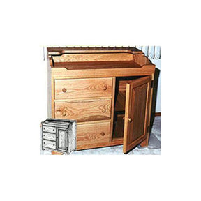 Woodworking Project Paper Plan to Build Early American Dry Sink