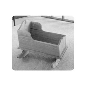 Woodworking Project Paper Plan to Build Easy Doll Cradle