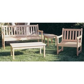 Woodworking Project Paper Plan to Build English Garden Bench, Plan No. 855